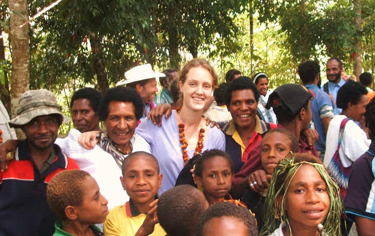 Isabel and local people in PNG, 2008