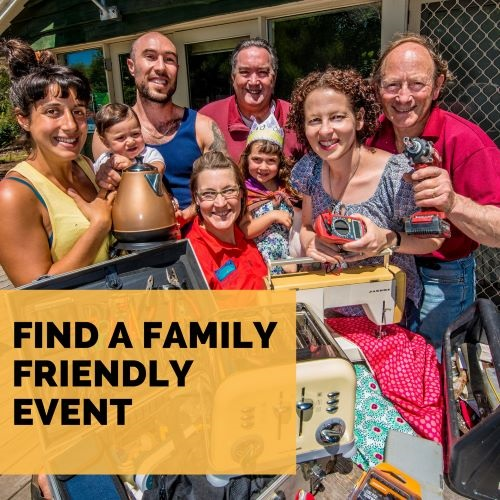 Find a family-friendly event button